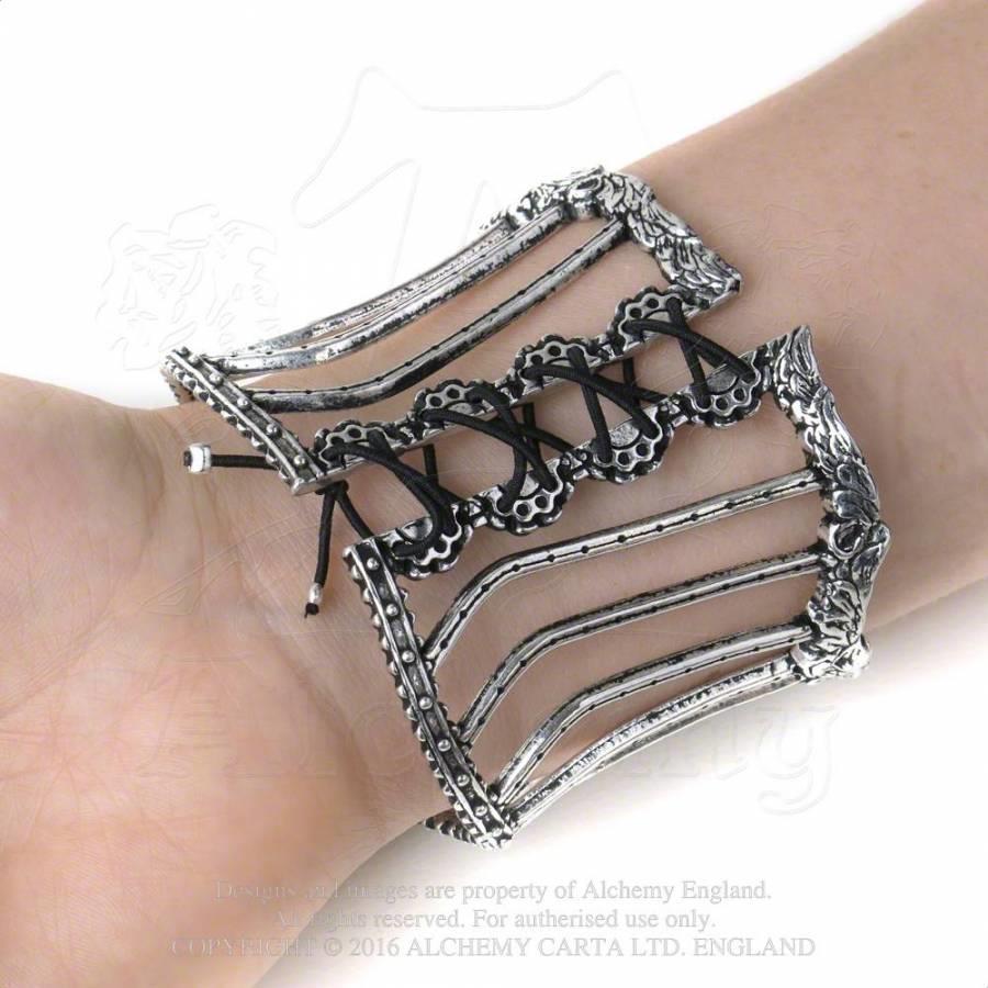 ALCHEMY TIGHTLACE CORSET BANGLE Bracelet Gothic Fetish Burlesque FREE GIFT BOX