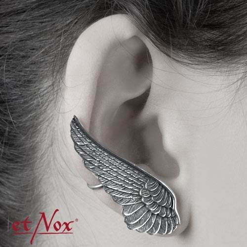 Sterling Silver Wing Ear Cuff Earring For The Right By Etnox